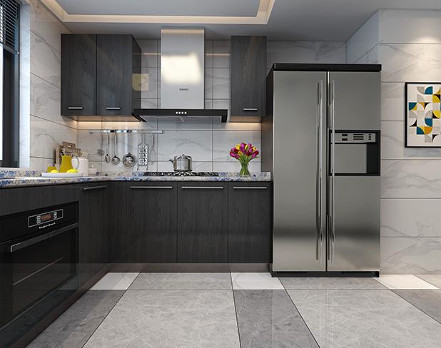 厨房瓷砖铺贴效果